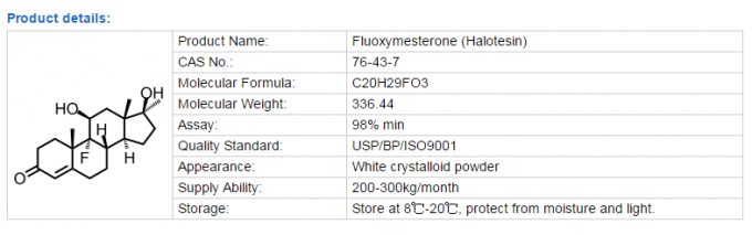 Chemical Fluoxymesterone Raw Steroid Powders strength promoting in bodybuilding