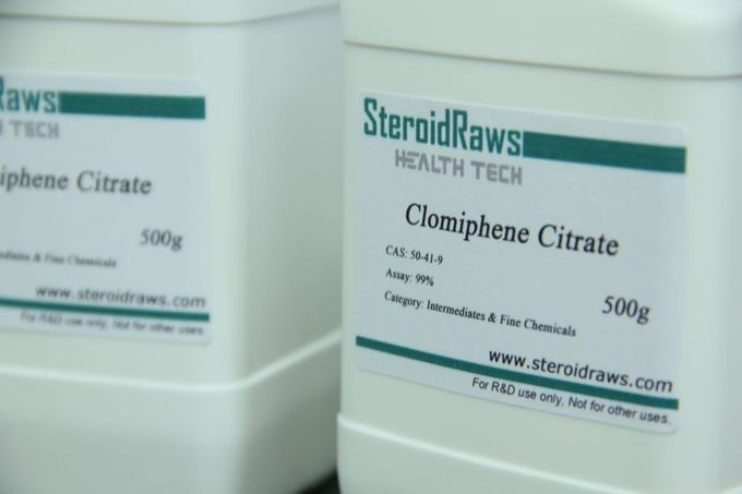 Clomifene Citrate Clomid / CL Anti Estrogen Steroids White Crystalline Powder